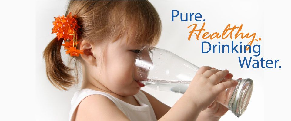 Pure. Healthy. Drinking Water. little girl