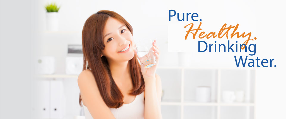 Pure. Healthy. Drinking Water. Asian Woman