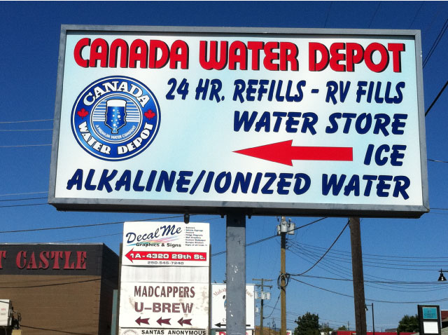 Canadian Water Depot marquee sign